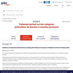 Article 9 : Traitement portant sur des catégories particulières de données à caractère personnel - GDPR.expert