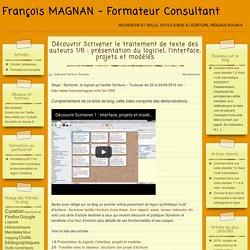 Découvrir Scrivener le traitement de texte des auteurs 1/6 : présentation du logiciel, l'interface, projets et modèles