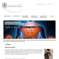 Covid-19 : maladie, virus et traitement