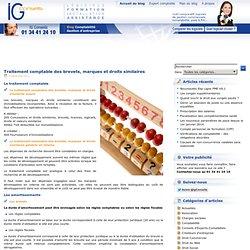 Traitement comptable des brevets, marques et droits similaires