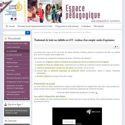 Traitement de texte sur tablette en CE1 : écriture d'un compte rendu d'expérience