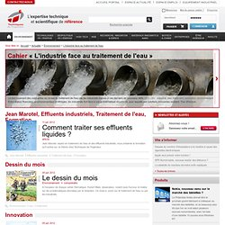 L'industrie face au traitement de l'eau