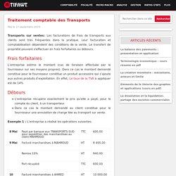 Traitement comptable des Transports