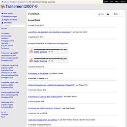 Traitement2007-0 - Portfolio