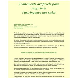 Les Fruitiers Rares : traitements artificiels pour supprimer l'astringence des kakis