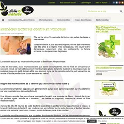 Remèdes naturels contre la varicelle - Traitements de NaturopathieSoin et Nature, le blog