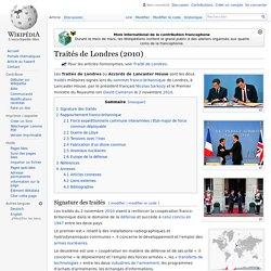 Traités de Londres (2010)