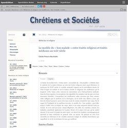 Le modèle du «bon malade» entre traités religieux et traités médicaux au xviie siècle