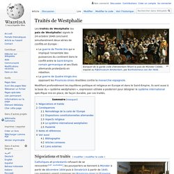 Traités de Westphalie