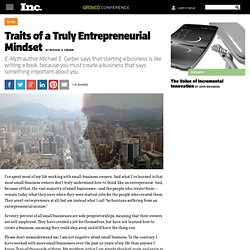 Traits of a Truly Entrepreneurial Mindset