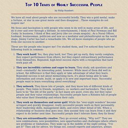 &Tiop 10 Traits of Highly Successful Peopl