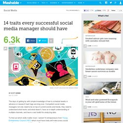 14 traits every successful social media manager should have