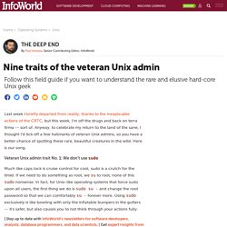 Nine traits of the veteran Unix admin