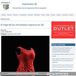 El traje de los mil pétalos impreso en 3D