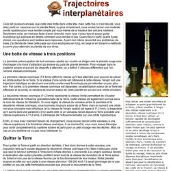 Trajectoires interplanétaires