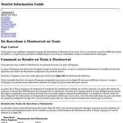 Trajet en Train de Barcelone a Montserrat