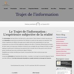 Trajet de l'information