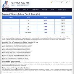 Tramadol Tablets 50mg sleeping pills now sleepingtabs.com