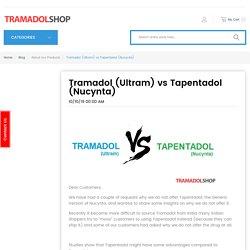 Tramadol (Ultram) vs Tapentadol (Nucynta)