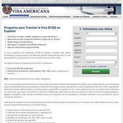 Tramite Visa Americana B1/B2