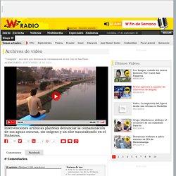"""Video:""""Trampolín"""", una obra que denuncia la contaminación de los ríos en Sao Paulo"""