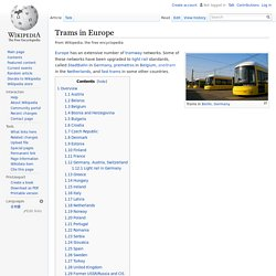 Trams in Europe