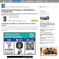 Réseau de bus & de tramway : la RATP déploie la technologie NFC
