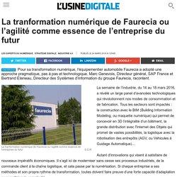 La tranformation numérique de Faurecia ou l'agilité comme essence de l'entreprise du futur