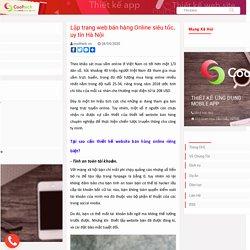 Lập trang web bán hàng Online siêu tốc, uy tín Hà Nội