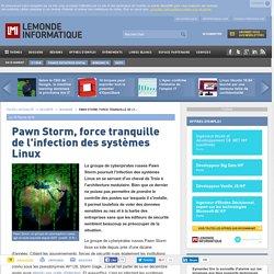 Pawn Storm, force tranquille de l'infection des systèmes Linux