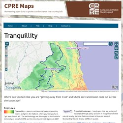 CPRE Tranquility Map (Interactive)