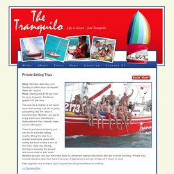 The Tranquilo, Aruba » Private Sailing Trips