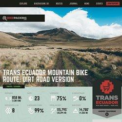Trans Ecuador Mountain Bike Route: Dirt Road Version