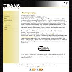 TRANS: revista de traductología
