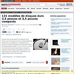 121 modèles de disques durs 2,5 pouces et 3,5 pouces comparés