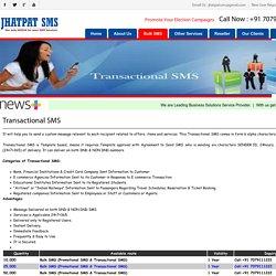 Bulk Transactional SMS Patna - Jhatpat SMS