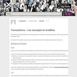 Transactions – Les concepts et modèles