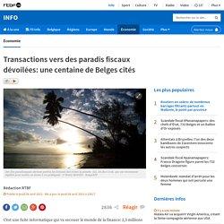 Transactions vers des paradis fiscaux dévoilées: une centaine de Belges cités