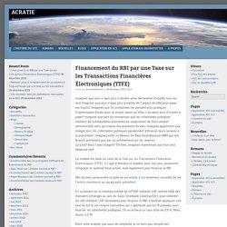 Financement du RBI par une Taxe sur les Transactions Financières Électroniques (TTFE)