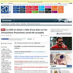 Le G20 en direct: L'idée d'une taxe sur les transactions financières aurait été acceptée