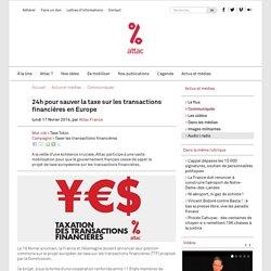 24h pour sauver la taxe sur les transactions financières en Europe