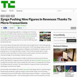 Zynga Pushing Nine Figures In Revenues Thanks To Micro-Transactions