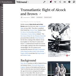 Transatlantic flight of Alcock and Brown - Wikiwand