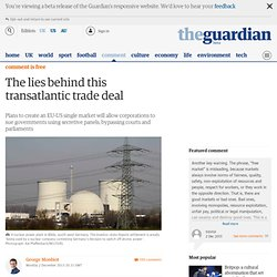 The lies behind this transatlantic trade deal