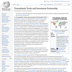 WIKIPEDIA - Transatlantic Trade and Investment Partnership.