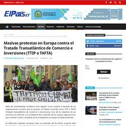 Masivas protestas en Europa contra el Tratado Transatlántico de Comercio e Inversiones (TTIP o TAFTA)