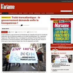 Traité transatlantique : le gouvernement demande enfin la transparence !
