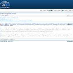 PARLEMENT EUROPEEN - Réponse à question E-009133-15 Partenariat transatlantique de commerce et d'investissement, santé publique, OGM, recours aux hormones dans le secteur de la viande bovine et règlement REACH