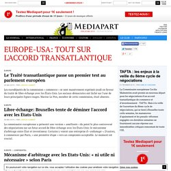 Europe-USA: tout sur l'accord transatlantique