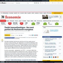 Traité transatlantique: feu vert partiel du Parlement européen